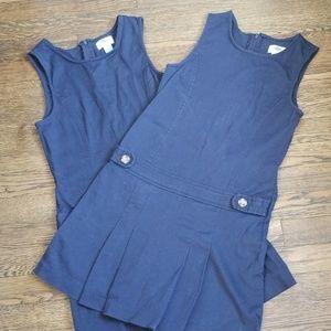2 Navy Blue School Uniform Dresses